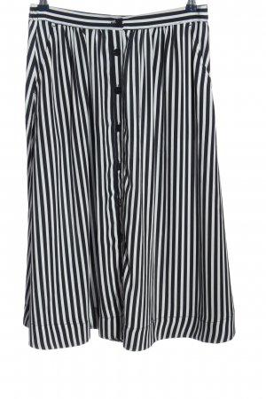 H&M Klokrok wit-zwart gestreept patroon casual uitstraling