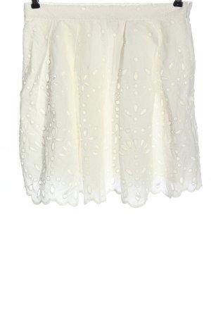 H&M Glockenrock weiß abstraktes Muster Casual-Look