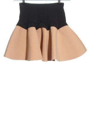 H&M Glockenrock nude-schwarz Elegant