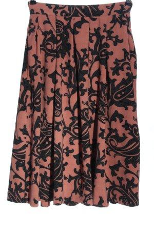 H&M Glockenrock pink-schwarz abstraktes Muster Casual-Look