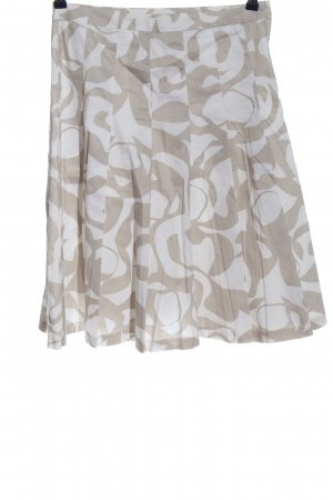 H&M Flared Skirt natural white-white allover print casual look