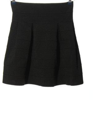 H&M Glockenrock schwarz Streifenmuster Business-Look