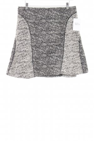 H&M Glockenrock schwarz-hellgelb abstraktes Muster extravaganter Stil