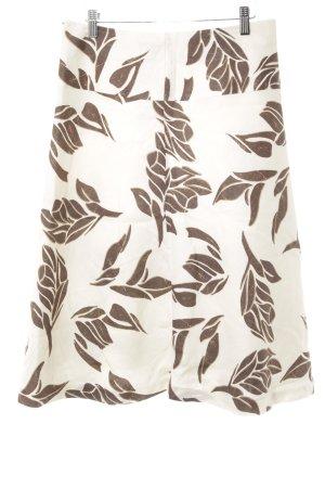 H&M Spódnica z godetami kremowy-ciemnobrązowy W stylu casual