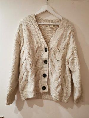 H&M Cardigan a maglia grossa bianco sporco