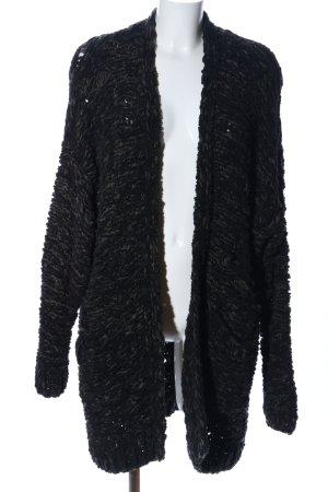 H&M Veste tricotée en grosses mailles noir moucheté style décontracté