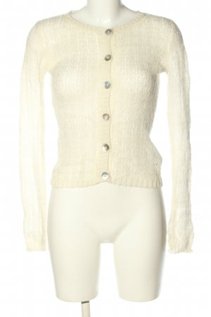 H&M Coarse Knitted Jacket nude casual look