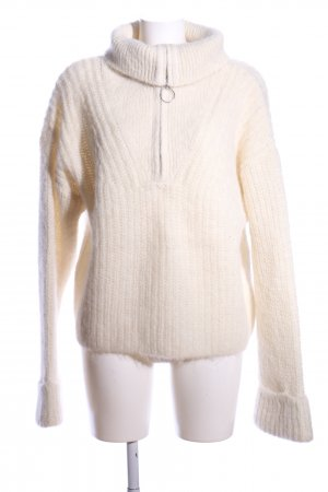H&M Grobstrickpullover wollweiß Casual-Look