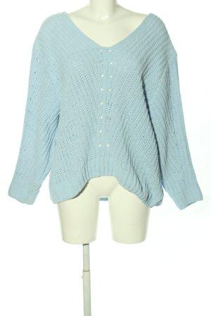 H&M Pullover a maglia grossa blu punto treccia stile casual