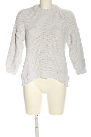 H&M Grobstrickpullover weiß Casual-Look
