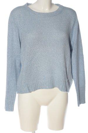H&M Pull à gosses mailles bleu torsades style décontracté