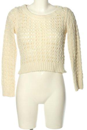 H&M Pullover a maglia grossa bianco sporco modello web elegante