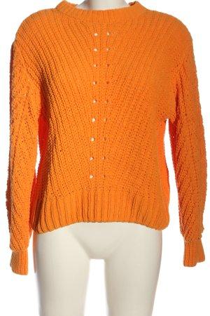 H&M Pullover a maglia grossa arancione chiaro punto treccia stile casual