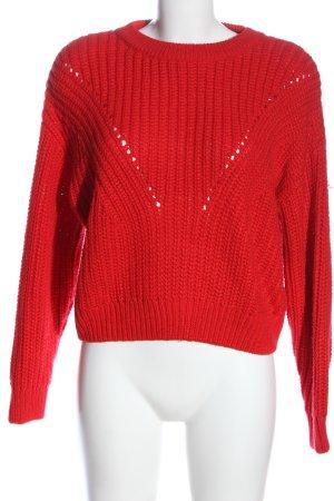 H&M Jersey de punto grueso rojo look casual