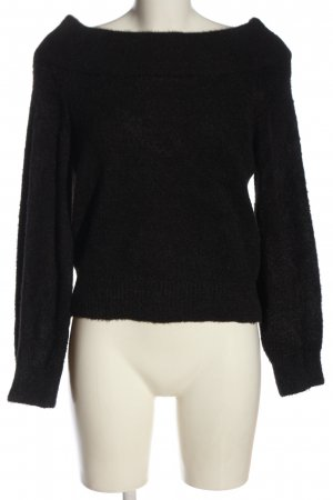 H&M Coarse Knitted Sweater black casual look