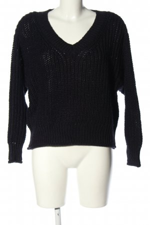 H&M Grobstrickpullover schwarz Casual-Look