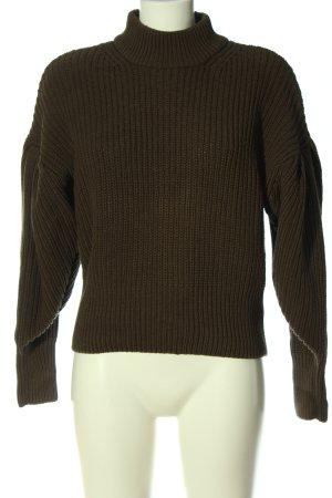 H&M Pullover a maglia grossa cachi punto treccia stile casual