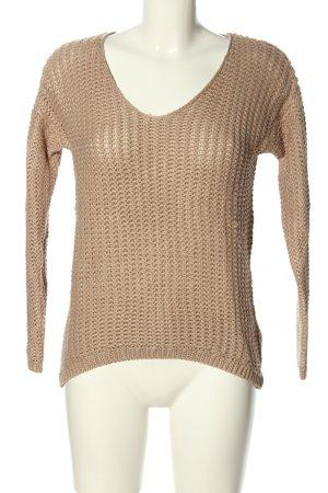H&M Jersey de punto grueso nude punto trenzado look casual