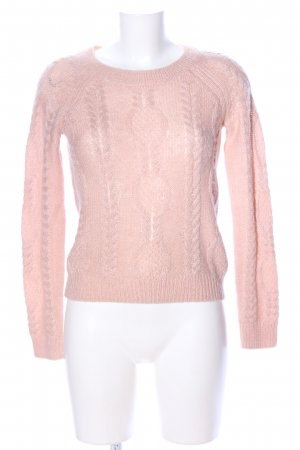 H&M Grobstrickpullover pink Zopfmuster Casual-Look
