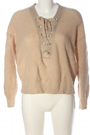 H&M Grobstrickpullover nude Zopfmuster Casual-Look
