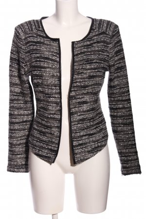 H&M Coarse Knitted Sweater black-light grey flecked business style