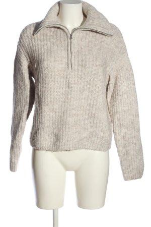 H&M Pull à gosses mailles gris clair torsades style décontracté