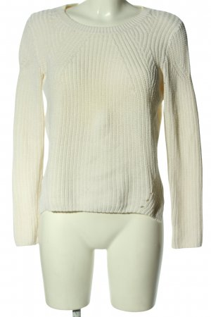 H&M Pull à gosses mailles blanc style décontracté