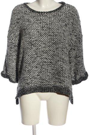 H&M Pullover a maglia grossa nero-bianco puntinato stile casual