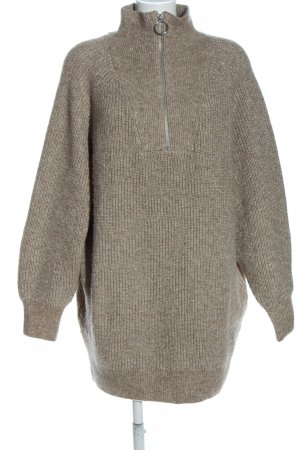H&M Coarse Knitted Sweater light grey cable stitch casual look