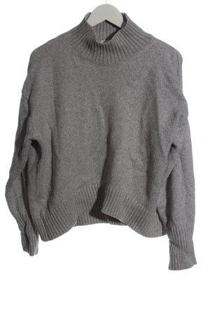 H&M Pull à gosses mailles gris clair moucheté style décontracté