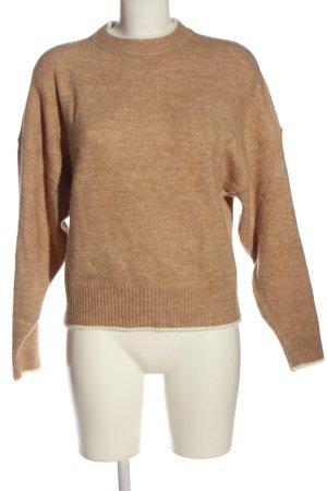 H&M Jersey de punto grueso marrón moteado look casual