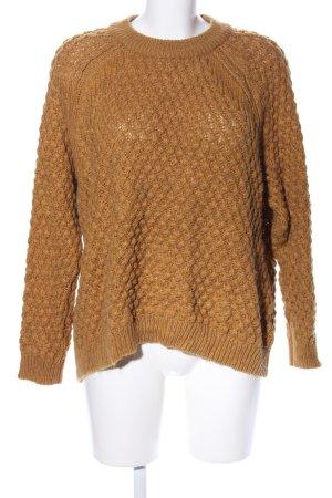 H&M Pullover a maglia grossa arancione chiaro stile casual