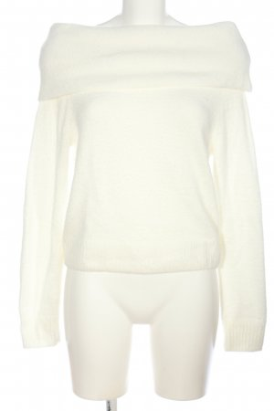 H&M Coarse Knitted Sweater white casual look