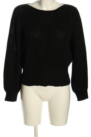H&M Pull à gosses mailles noir torsades style décontracté