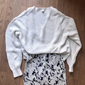 H&M Grobstrickpullover Gr. S Weiß Pullover