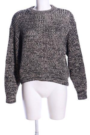 H&M Grobstrickpullover hellgrau meliert Casual-Look