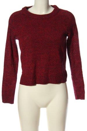 H&M Sweter z grubej dzianiny czerwony Melanżowy W stylu casual