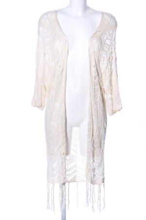 H&M Cárdigan de ganchillo crema punto trenzado elegante