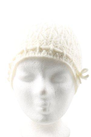 H&M Gorro tejido blanco elegante