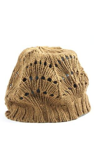 H&M Bonnet en crochet doré style décontracté