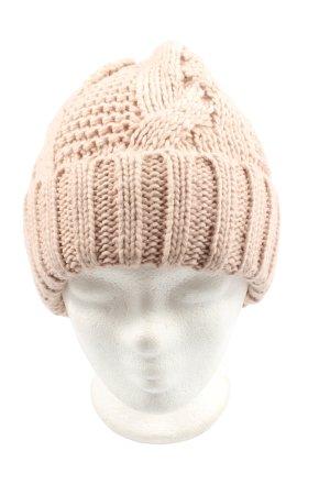 H&M Bonnet en crochet rose chair torsades style décontracté
