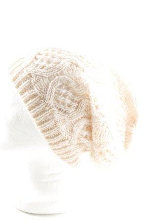 H&M Cappello all'uncinetto crema punto treccia stile casual