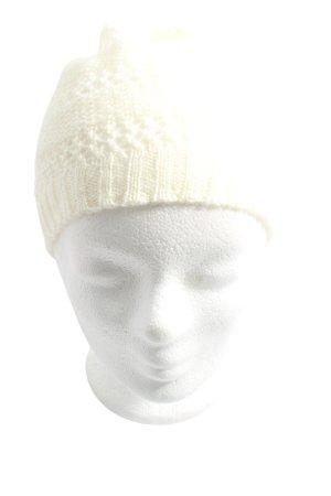 H&M Gorro tejido blanco look casual