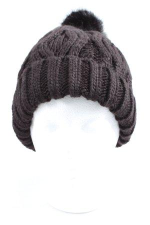 H&M Bonnet en crochet brun torsades style décontracté