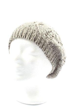 H&M Gorro tejido gris claro punto trenzado look casual