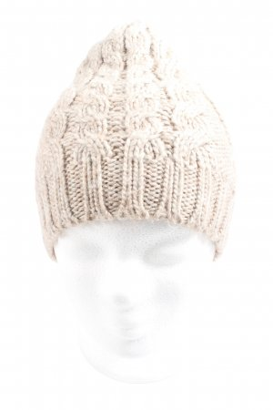 H&M Crochet Cap natural white cable stitch casual look