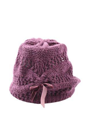 H&M Gorro tejido lila look casual
