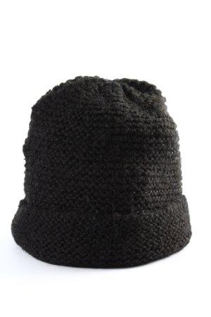 H&M Crochet Cap black casual look