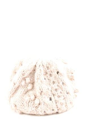 H&M Gorro tejido blanco puro punto trenzado look casual