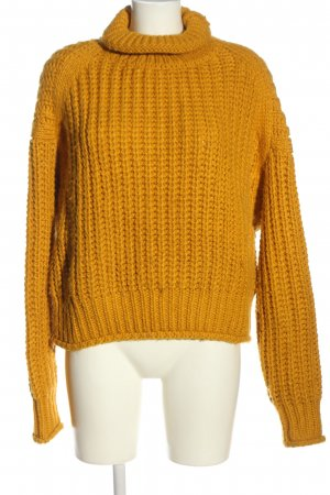 H&M Pullover all'uncinetto arancione chiaro punto treccia stile casual